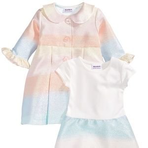 Other - 2-Pc. Multicolor Coat & Dress Set, Baby Girls